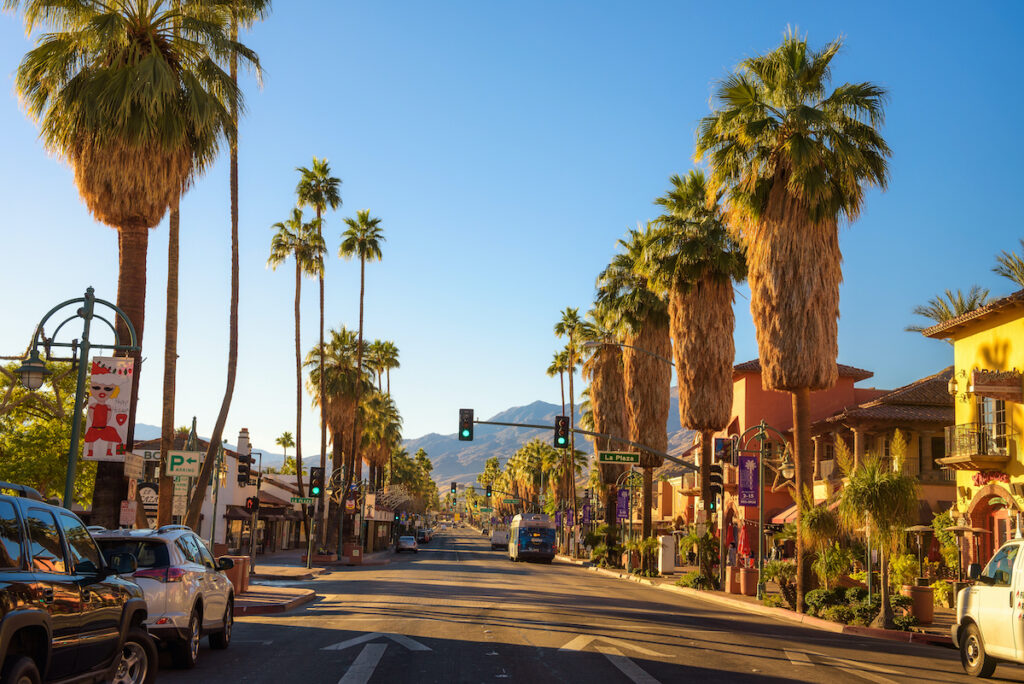 Downtown Palm Springs in California.