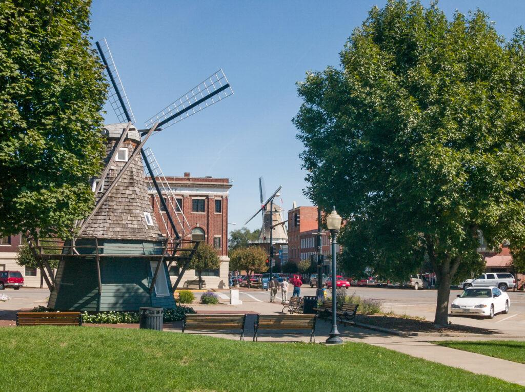 Downtown Pella, Iowa.