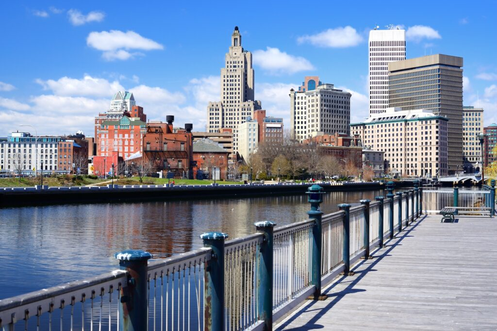 Downtown Providence, Rhode Island.