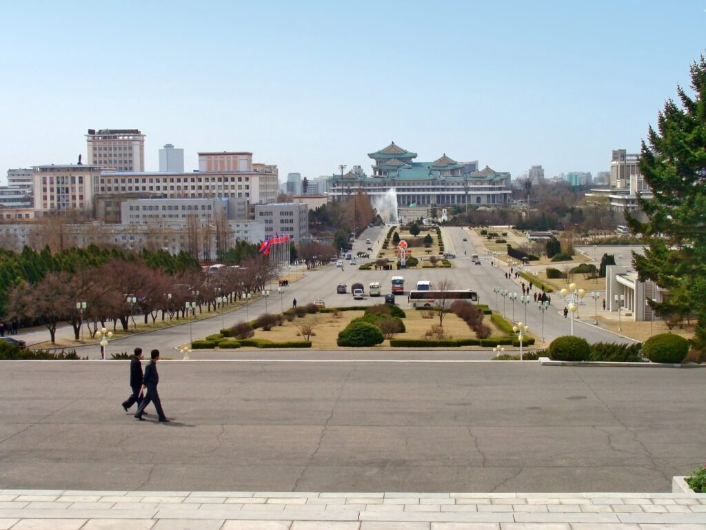 Downtown Pyongyang, North Korea.