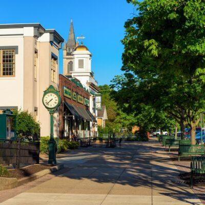Downtown quaint Granville, Ohio.