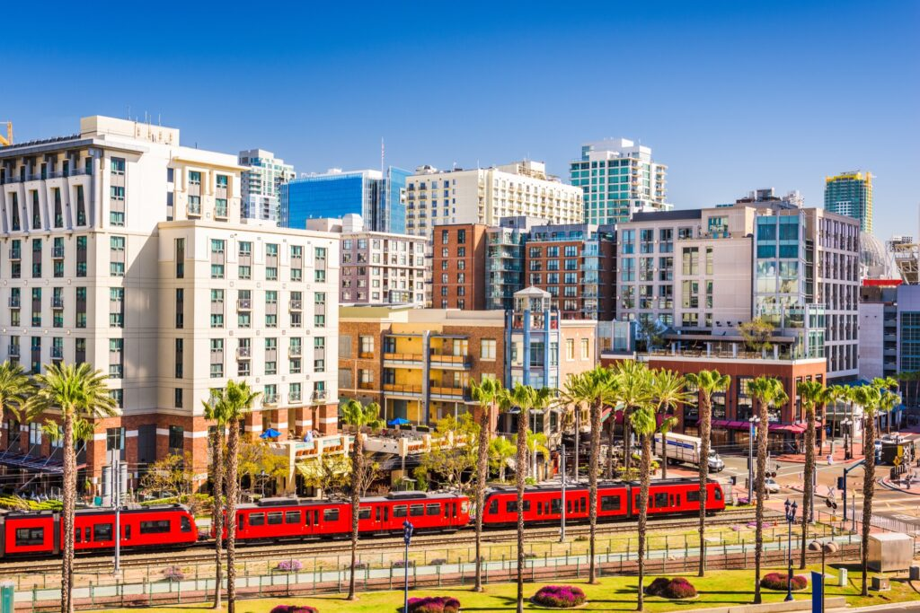 Downtown San Diego, California.