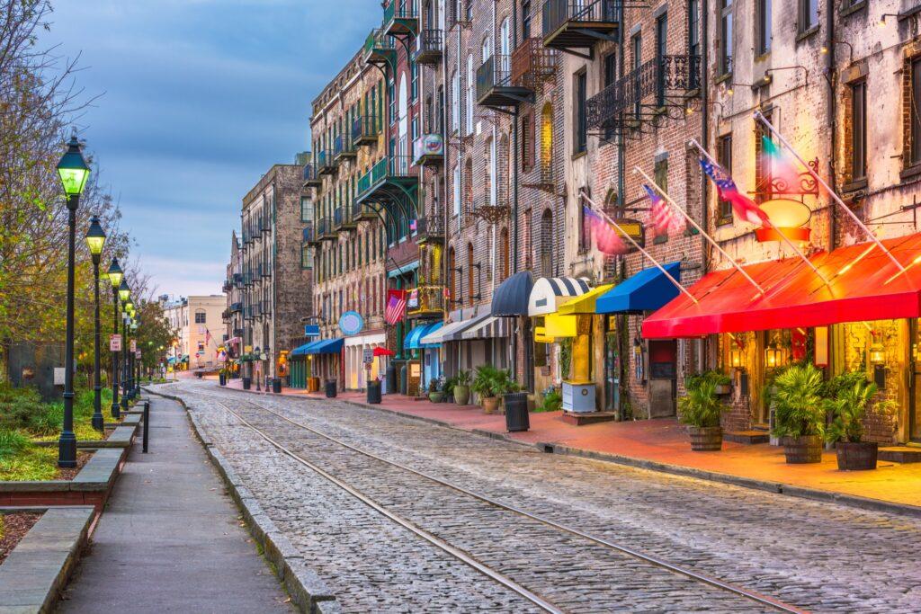 Downtown Savannah, Georgia.