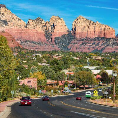 Downtown Sedona, Arizona.
