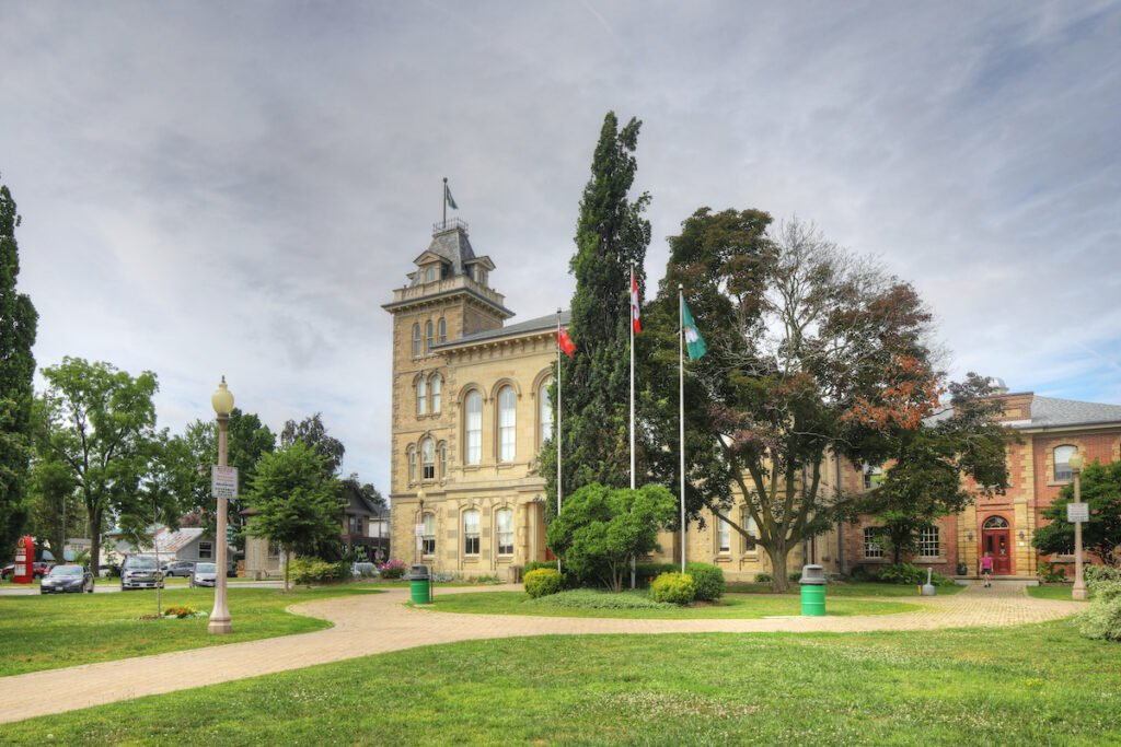 Downtown Simcoe, Ontario.