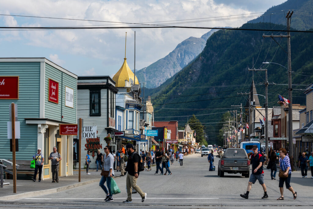 Downtown Skagway, Alaska.