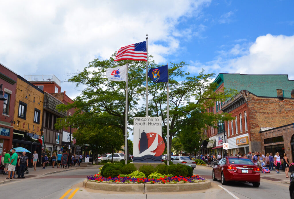 Downtown South Haven, Michigan.