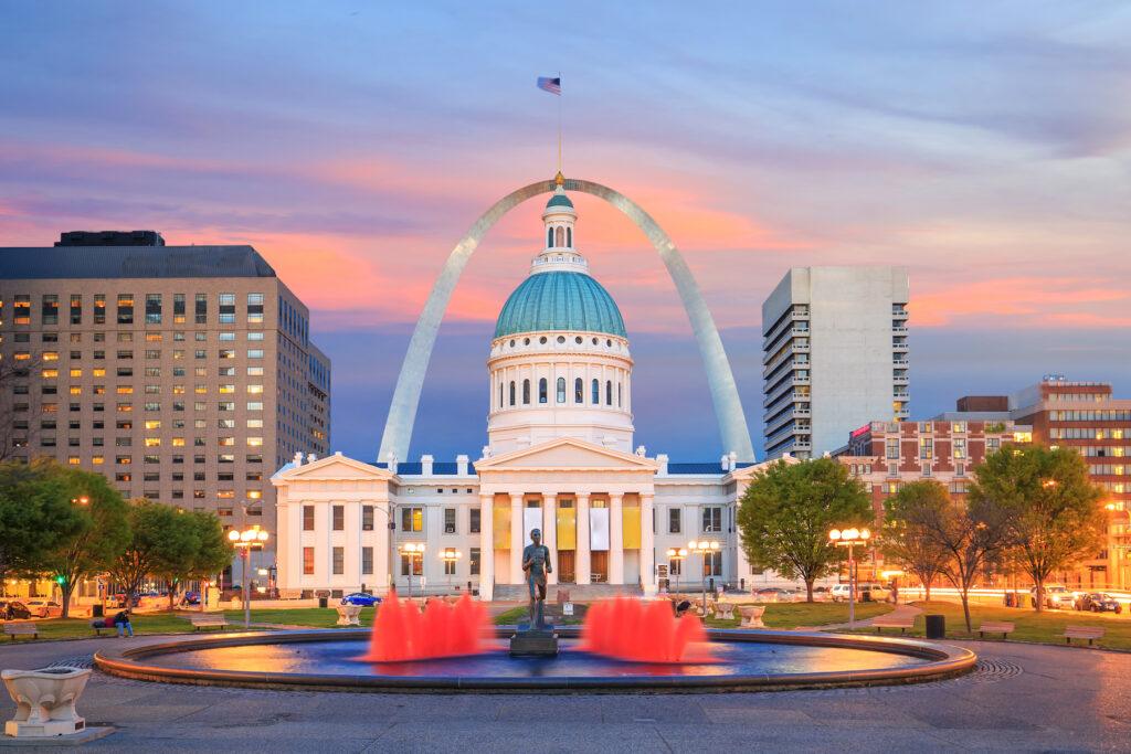 Downtown St. Louis, Missouri.