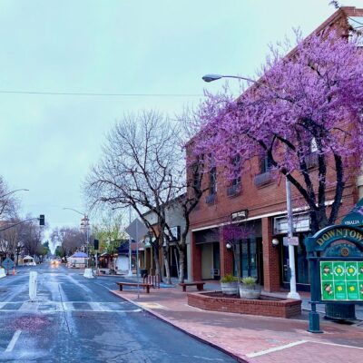 Downtown Visalia, California.