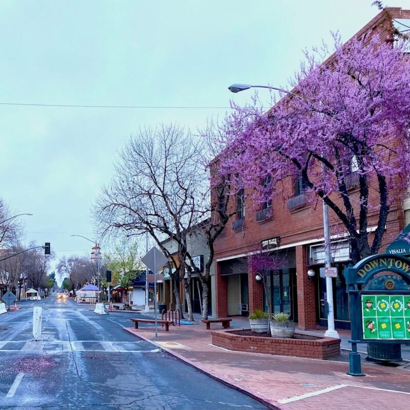 Downtown Visalia, California.
