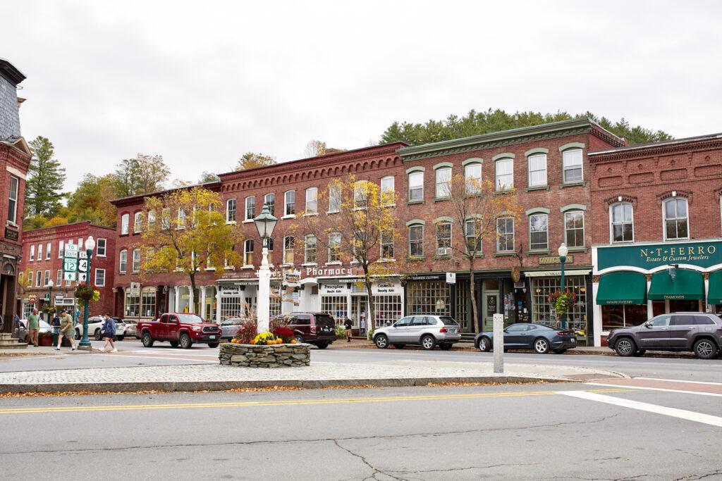 Downtown Woodstock, Vermont.