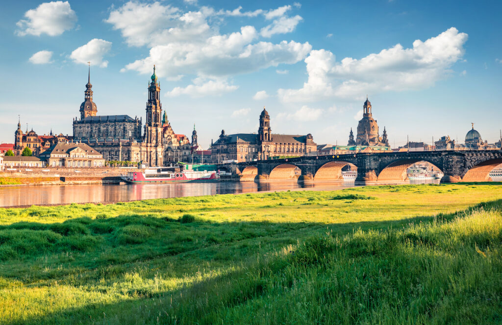 Dresden, Germany, on a partly cloudy day.
