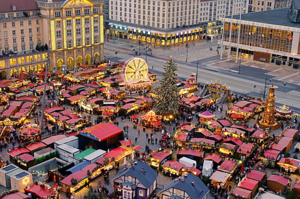 Dresden Striezelmarkt in Dresden, Germany.