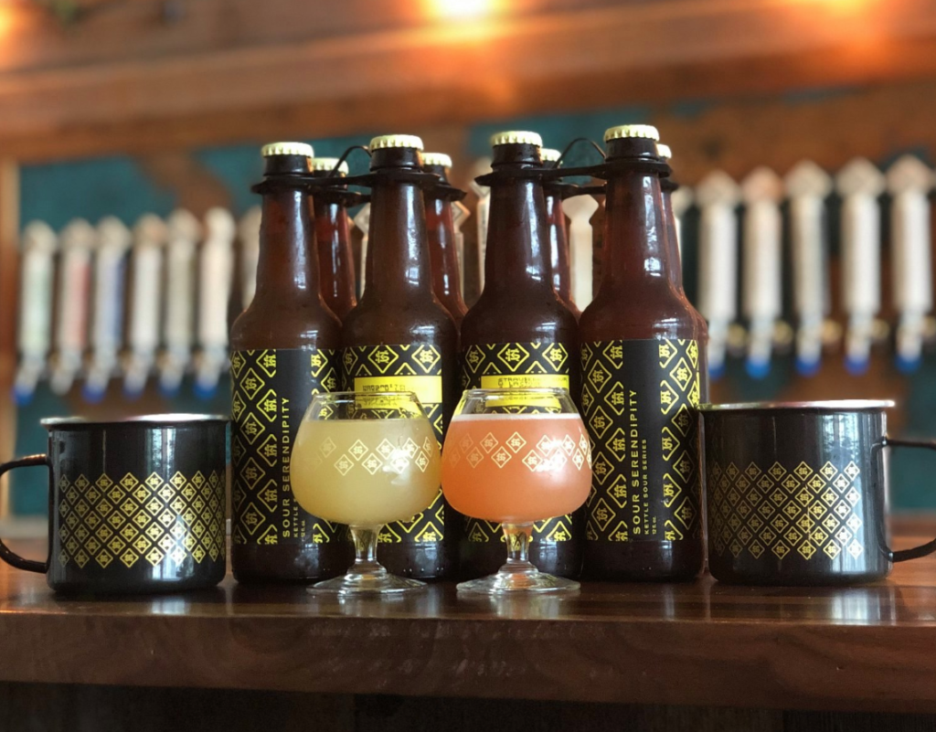 Drinks from Kros Strain Brewing Company.