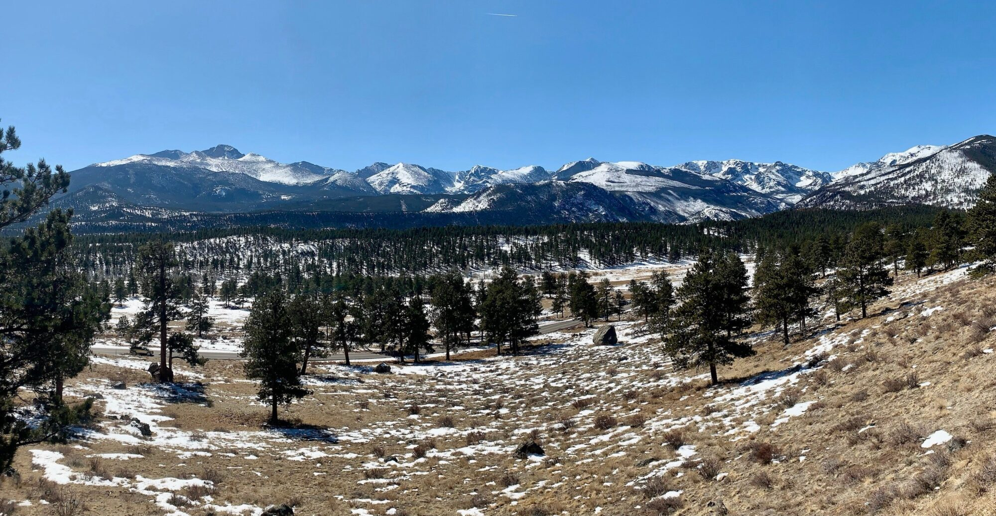 Driving, Rocky Mountain National Park, Colorado.
