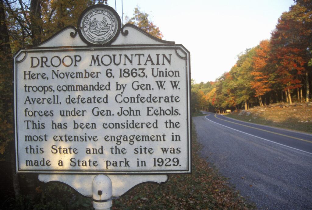 Droop Mountain Battlefield State Park in West Virginia.