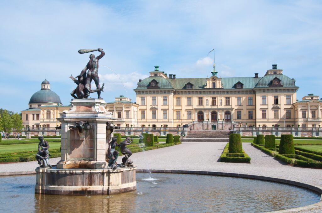Drottningholm Palace in Stockholm, Sweden.
