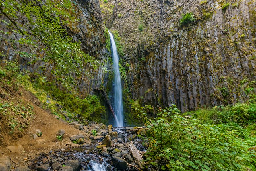 Dry Creek Falls in Oregon's Columbia River Gorge.