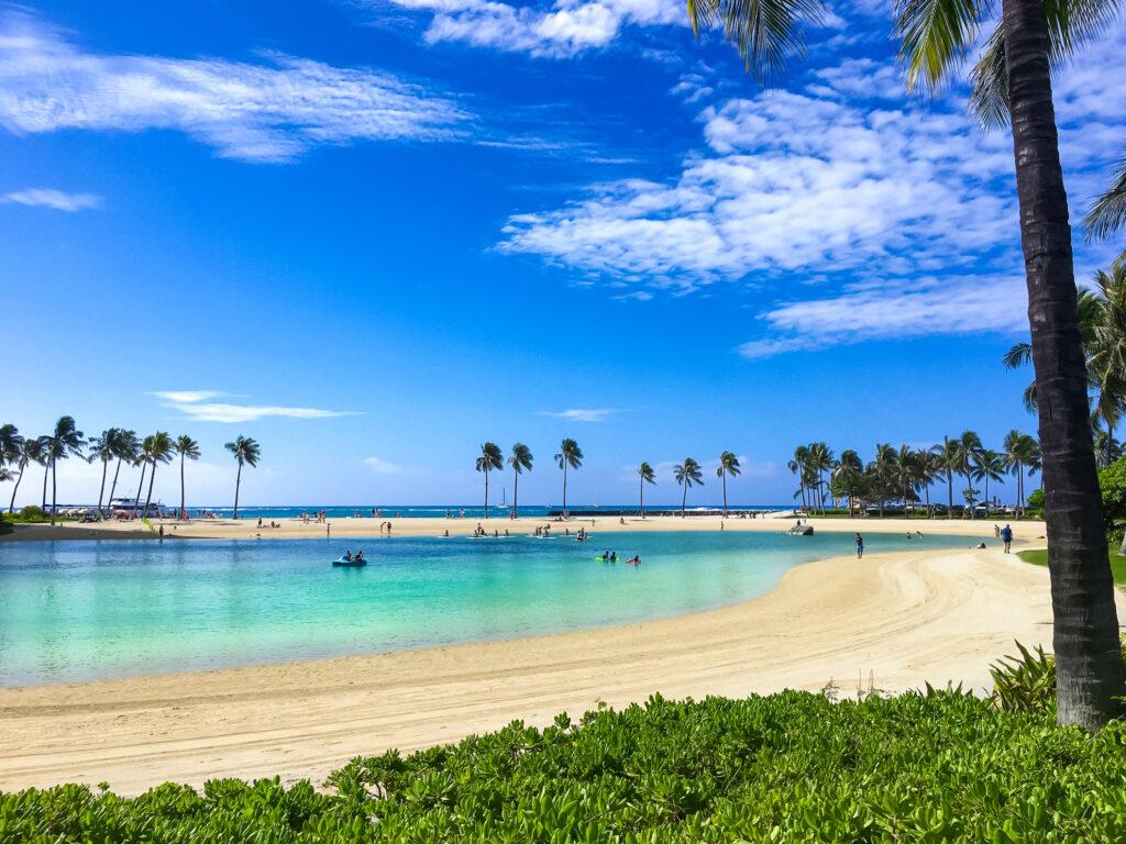 Duke Kahanamoku Beach in Hawaii
