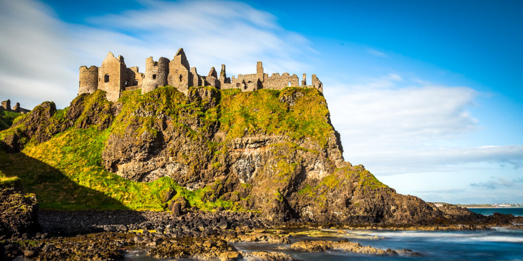 Dunluce Castle at Giant's Causeway in Northern Ireland