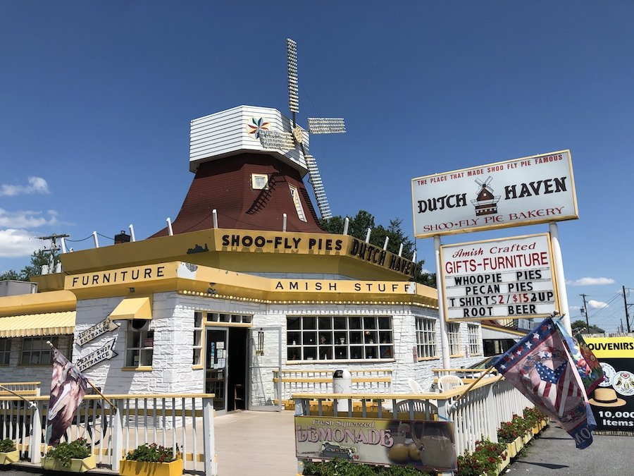 Dutch Haven, home of the Shoofly Pie, in Pennsylvania.