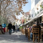 Eating local in Athens, Greece.