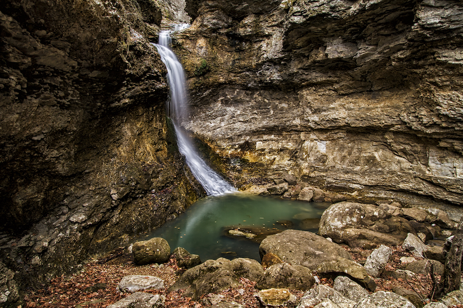 Eden Falls at the end of Lost Valley Trail in Arkansas.