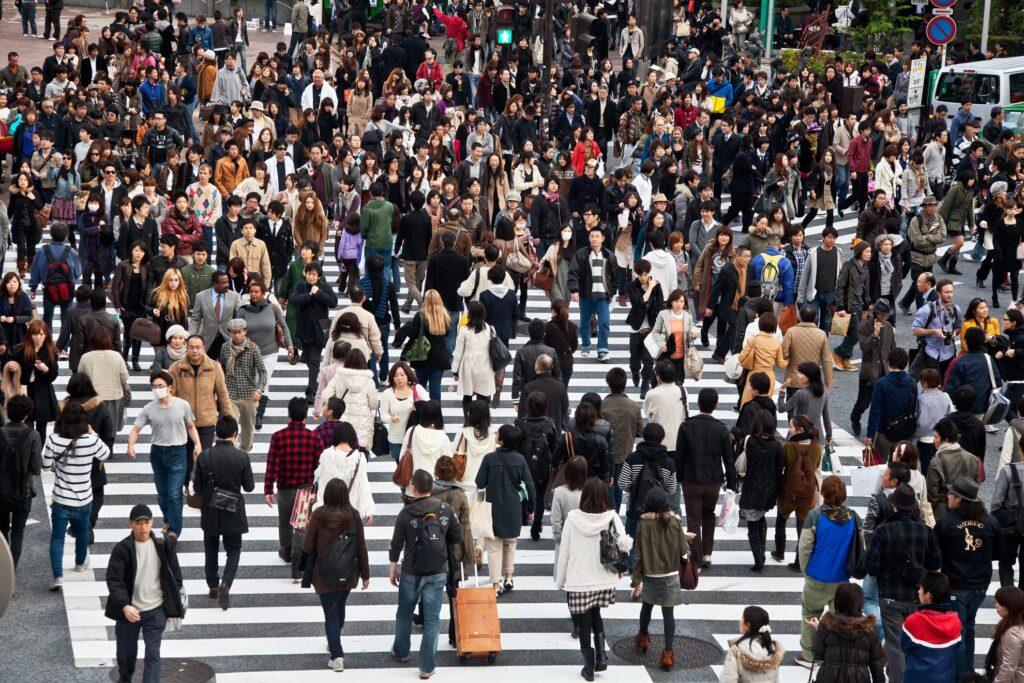 Edokko on a street in Tokyo.