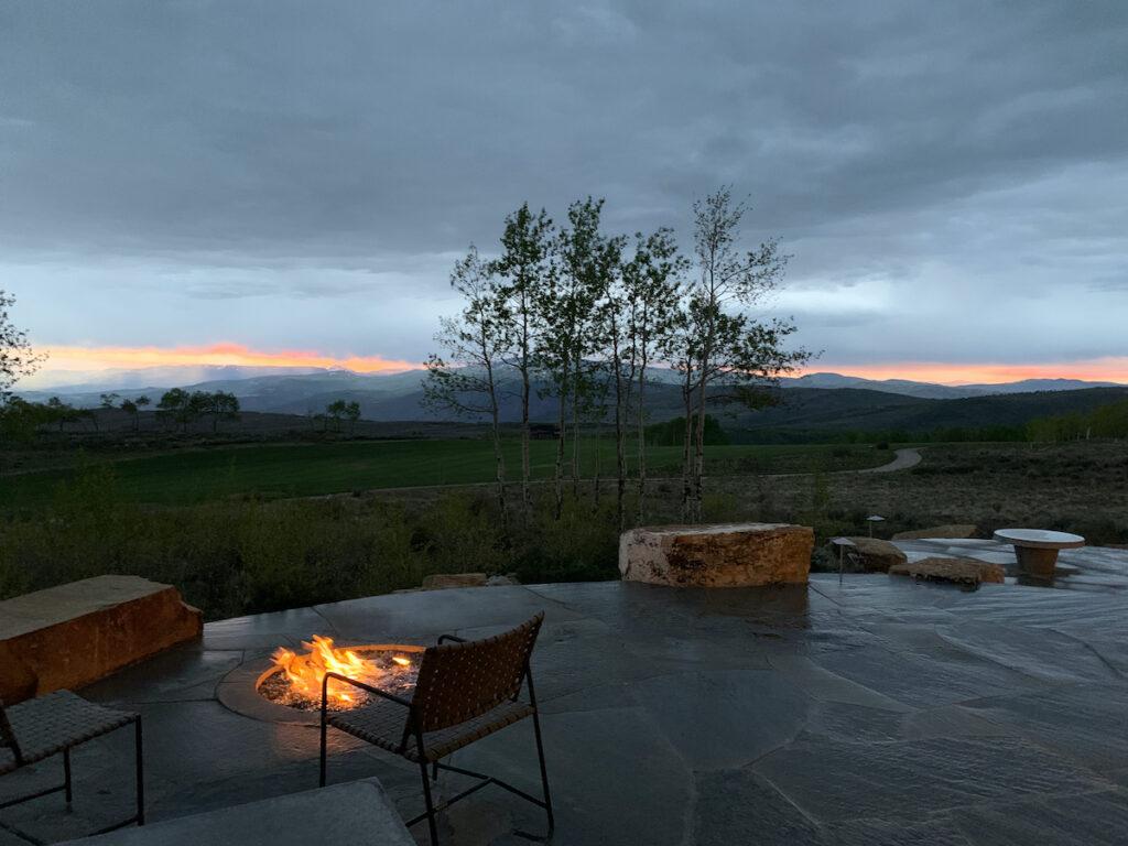 Edwards, Colorado, sunset.