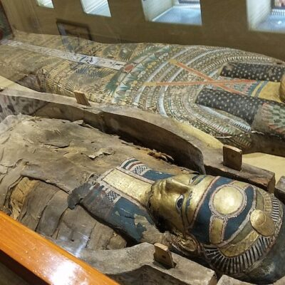 Egyptian mummies in the Wayne County Historical Museum.