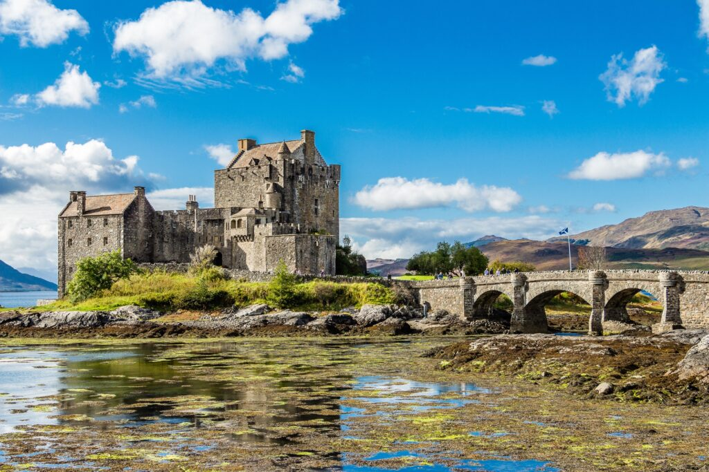 Eilean Donan Castle in the Scottish Highlands.