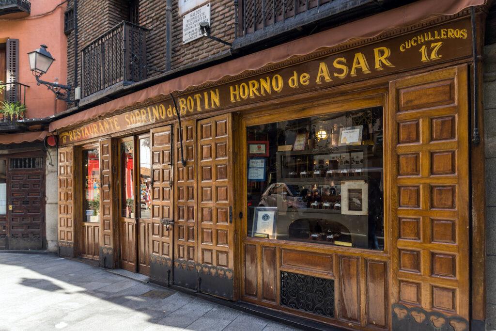 El Botin, the world's oldest restaurant.