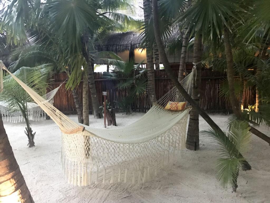 El Dorado Maroma, hammock for relaxing.