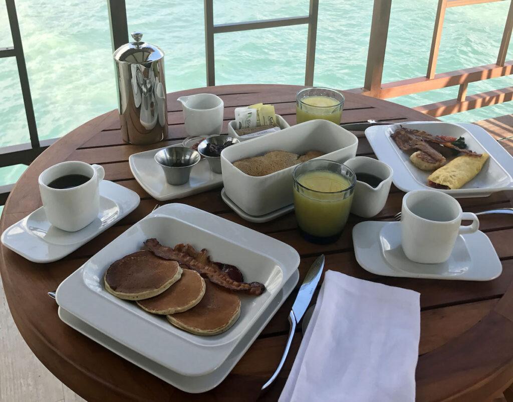 El Dorado Maroma, room service breakfast.