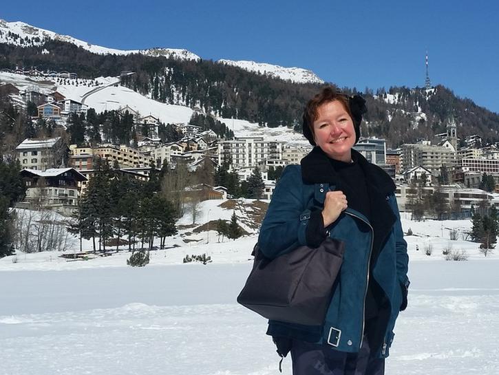 Elaine J. Masters in St. Moritz