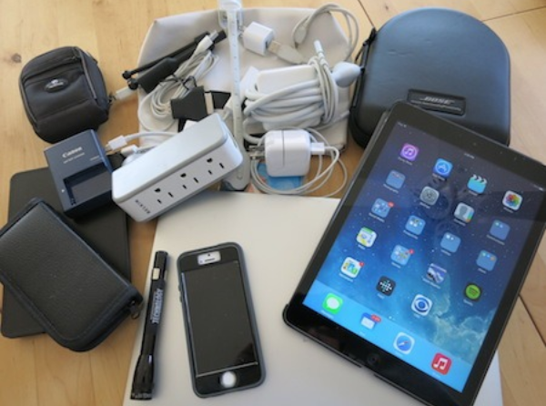 Electronics to pack in your carry-on bag.