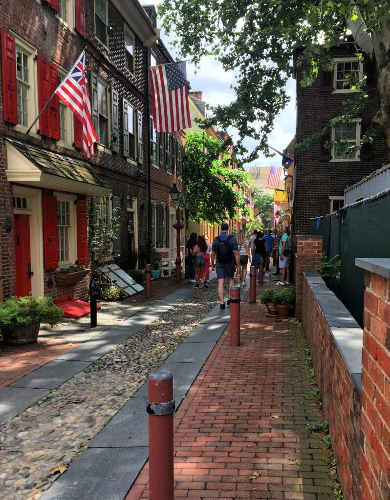 Elfreth's Alley in Philadelphia.
