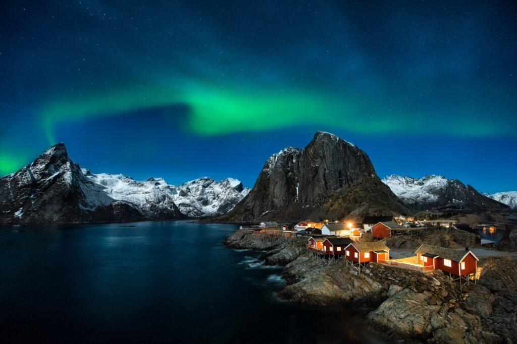 Eliassen Rorbuer on the Lofoten Islands of Hamnoy.