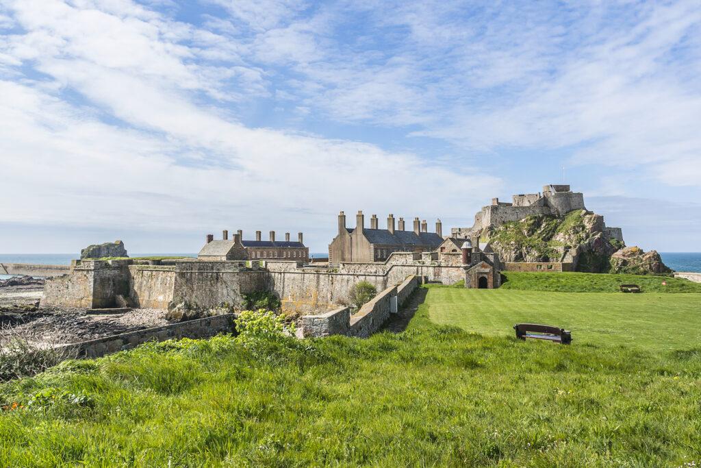 Elizabeth Castle off the coast of Saint Helier.