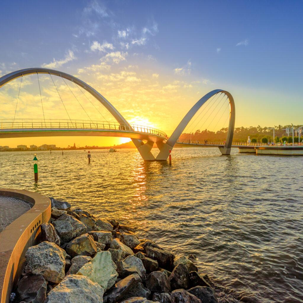 Elizabeth Quay in Pert, Australia.