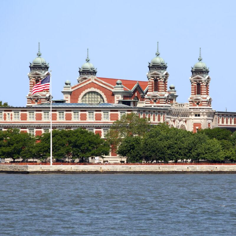 Ellis Island in New York City, New York.