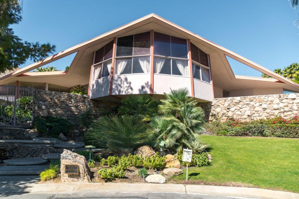 Elvis's Honeymoon home in Palm Springs.