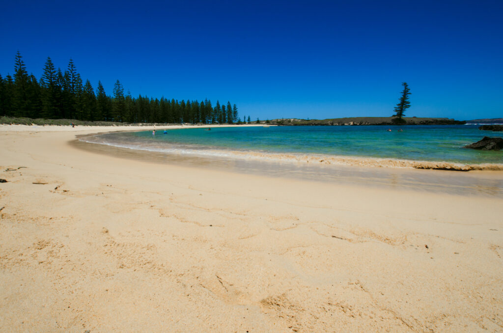 Emily Bay, one of the top beaches in Australia.