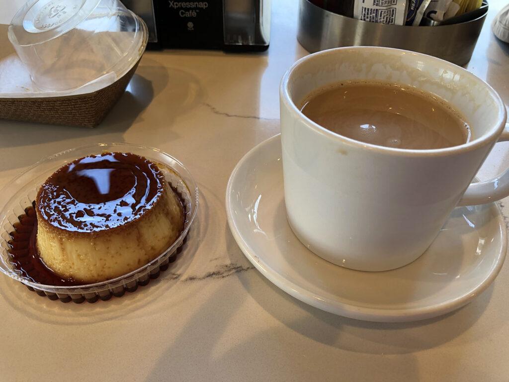 Enjoying a coffee in Florida.