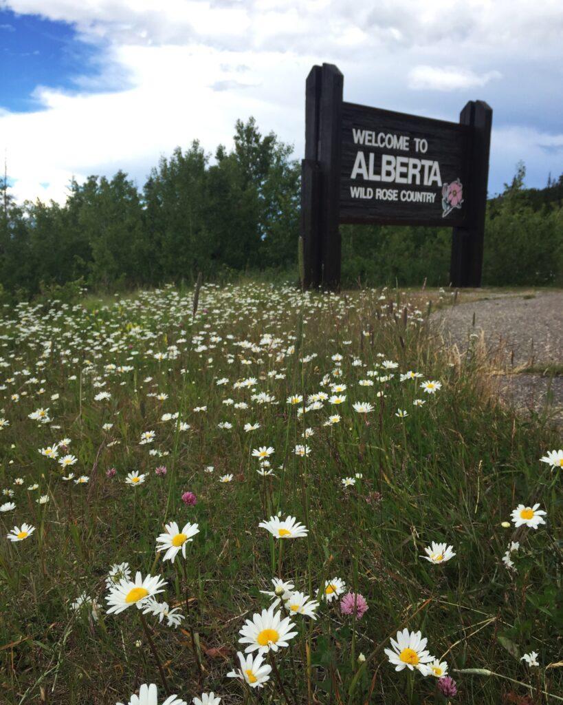 Entering Alberta, Canada.