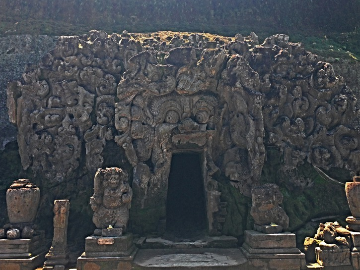 "Entrance to Goa Gajah, or ""Elephant Cave."""