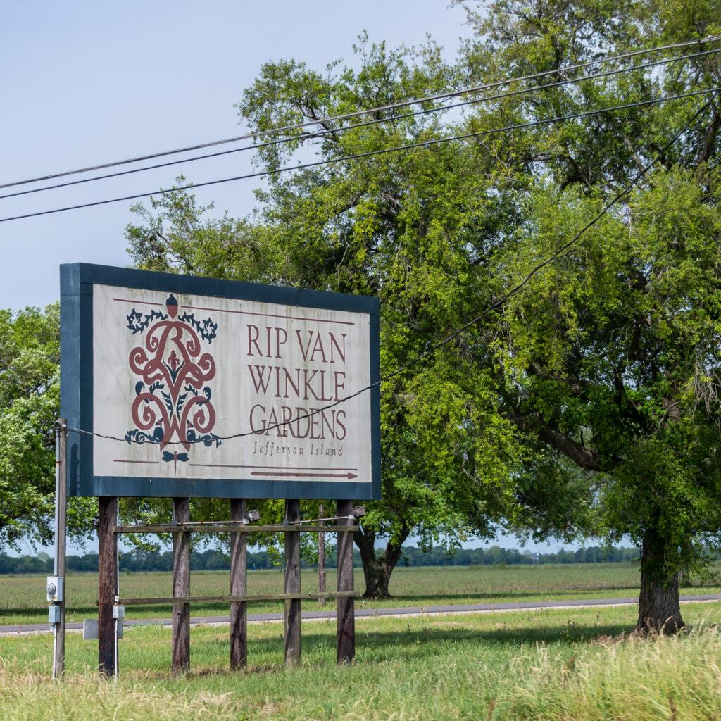 Entrance to Rip Van Winkle Gardens in New Iberia, Louisiana