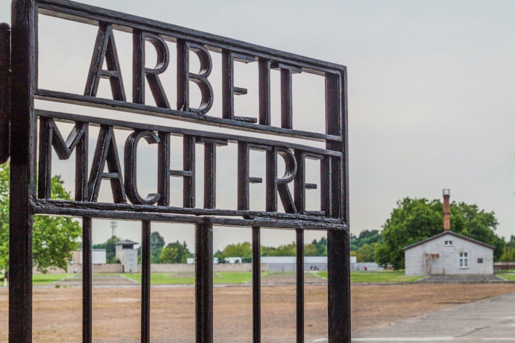 Entrance to Sachsenhausen in Germany.