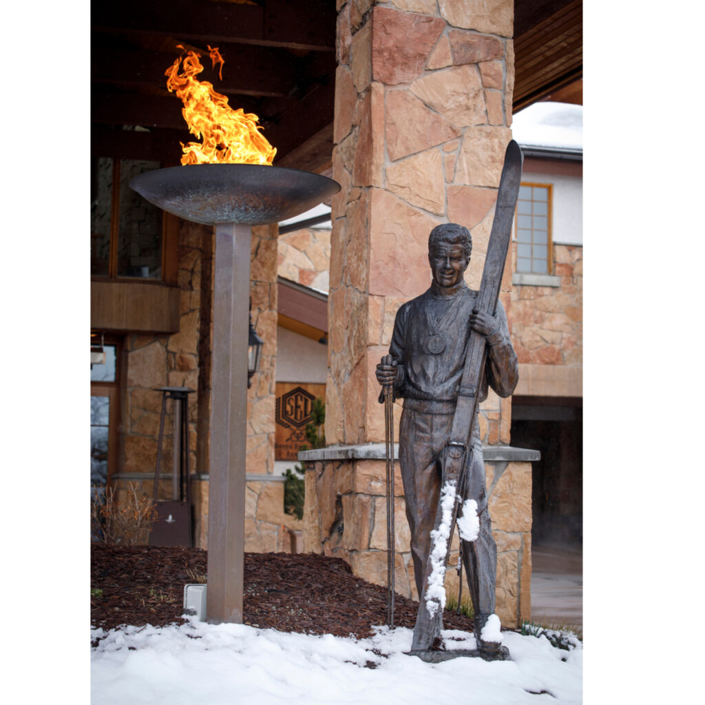 Entrance to Stein Eriksen Lodge in Park City, Utah.