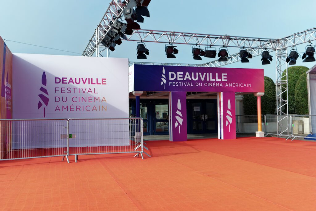 Entrance to the 2019 American film festival in Deauville, France